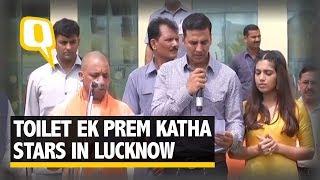 Toilet Ek Prem Katha Stars Pick Up Brooms With Yogi Adityanath - The Quint