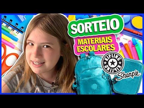 SORTEIO DE MATERIAIS ESCOLARES - VOLTA ÀS AULAS - MOCHILA E ESTOJO DA KIPLING