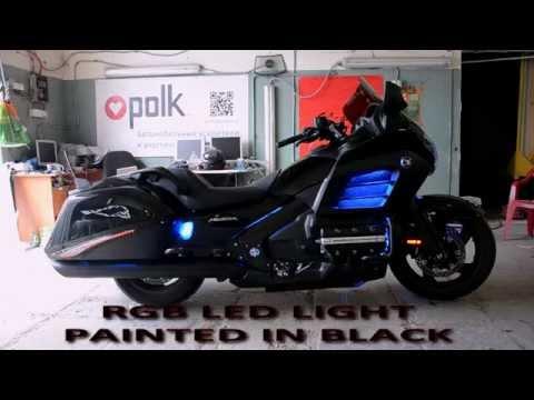 F6B Honda Gold Wing Black edition, custom sound system, hid lens with angel eyes, rgb led