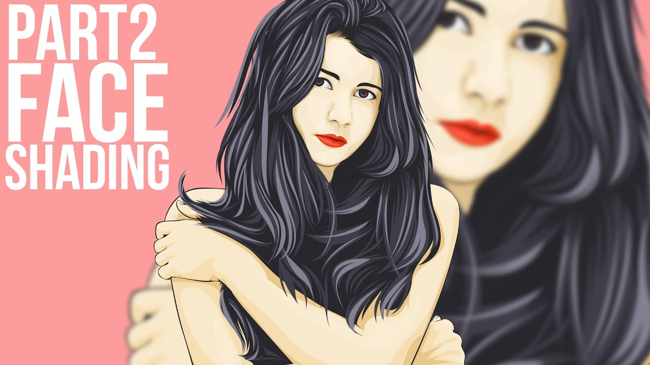 Drawing Lines In Photo Cc : Vector portraits photoshop tutorial face shading youtube