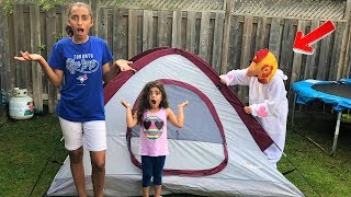 Kids Pretend Play Camping & Fishing with surprise!! Family fun