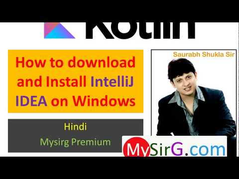 How to download and install IntelliJ IDEA on Windows Hindi