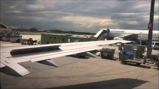 Lufthansa classic Boeing 737-300 engine start and take off from FRA