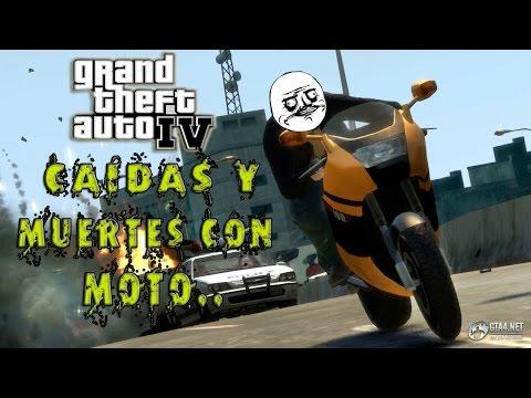 MEJORES CAIDAS Y MUERTES - Con Motos  gta 4