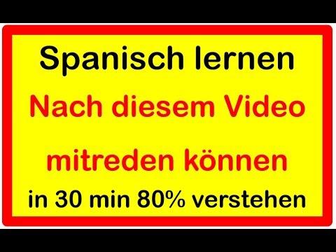 Spanisch Lernen - 100 Wörter Und Sätze Für Anfänger