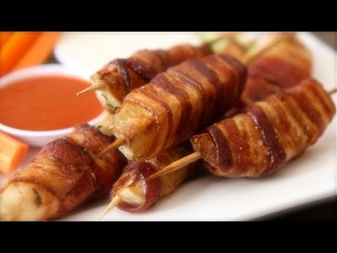 Bacon Wrapped Potato Skewers - BRING IT!!
