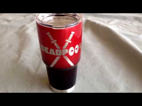 Deadpool yeti cup to drink mercilessly!