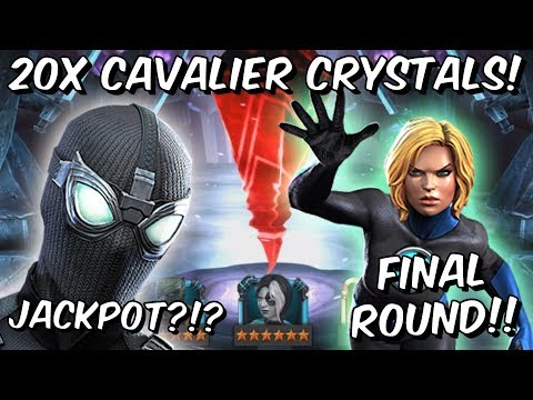 20x 6 Star Spider-Man Cavalier Featured Crystal Opening Final Round! - Marvel Contest of Champions