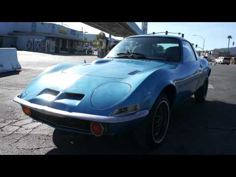 1973 opel gt poor mans corvette 4 cyl 4 speed rally 1 piece car youtube