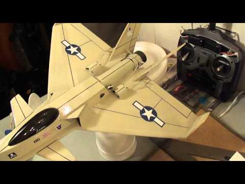 Micro RC Jet  Eflite 28mm EDF Unit using UMX F-16