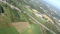 Bergwerk Göttelborn mit Absinkweiher Hahnwiese und Sendeturm Göttelborn