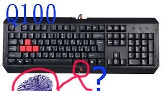 обзор клавиатуры Unboxing A4Tech Bloody Q100 Blazing Gaming KeyBoard