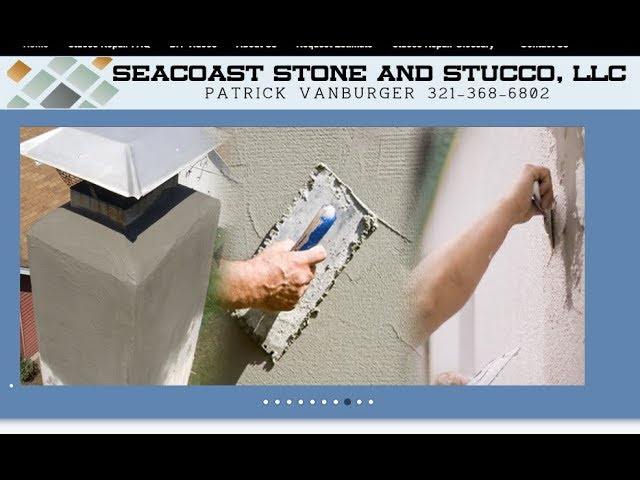 Stucco Repair and Painting of Big Wall, Viera FL -  321-368-6802