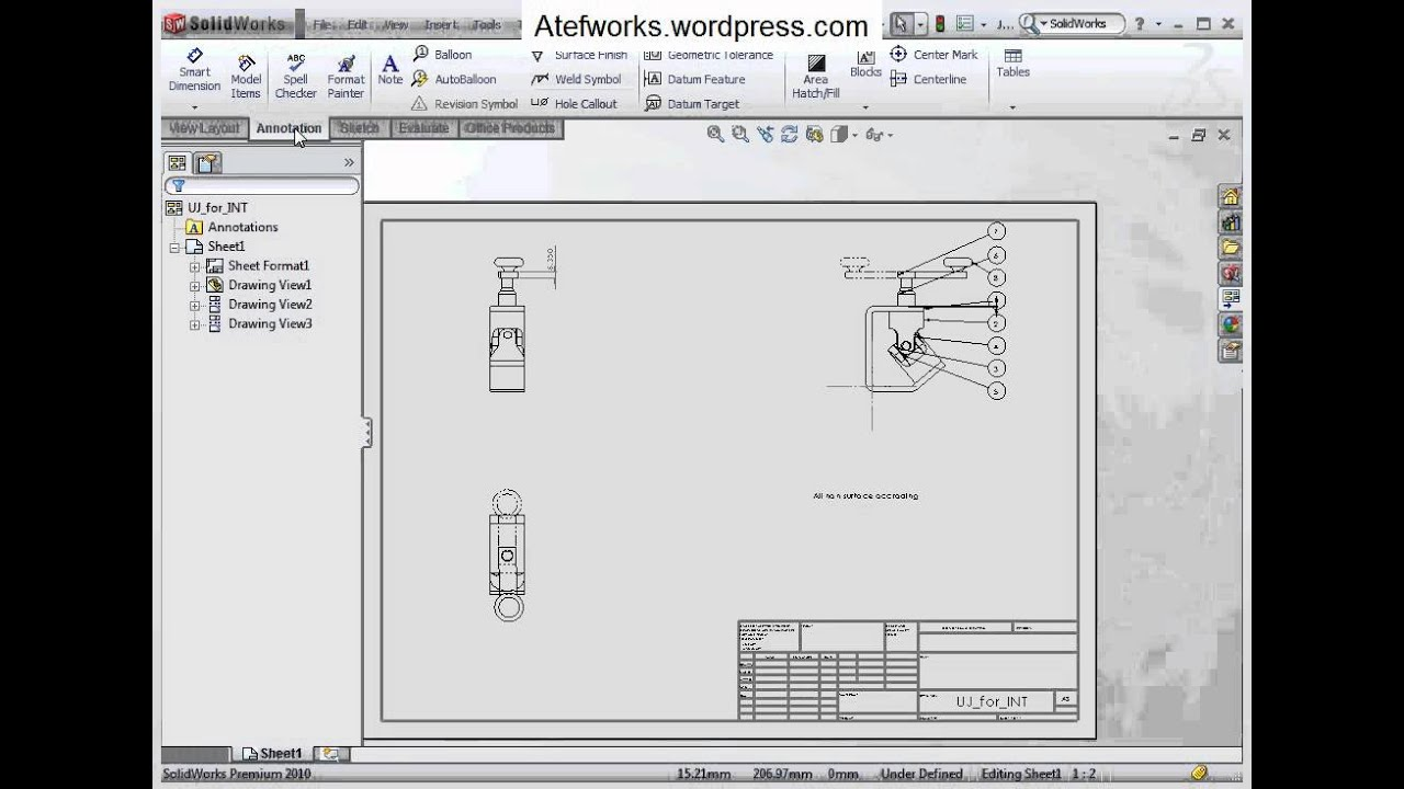 1023 Drawing Annotations Note Surface Finish Youtube