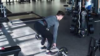 Качаем спину! Тяга штанги к поясу стоя в наклоне.Упражнения для тренировки спины.Техника упражнений.
