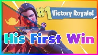 Nepali Gaming Hub - Getting Him His First Win ! FORTNITE BATTLE ROYALE
