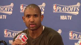 Atlanta Hawks Al Horford talks about playing with intensity in English and Spanish