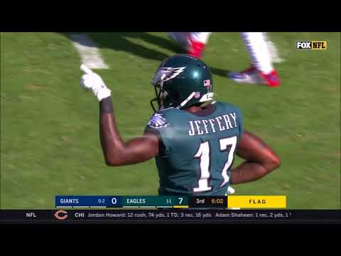 All Carson Wentz Throws vs. Giants (Week 3 - 2017)