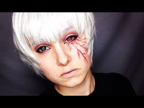 Kaneki Ken Tokyo Ghoul Crossplay Makeup Tutorial YouTube