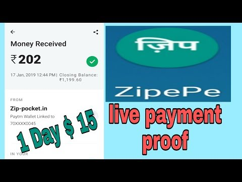 Rs 202 live payment proof form ZipePe app