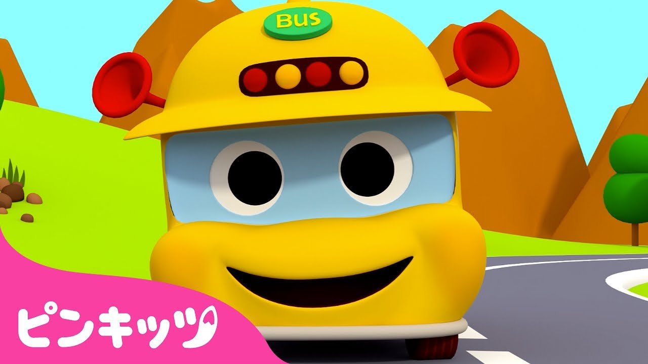 The Wheels on the Bus    英語童謡   子どもの歌   Word Play   ピンキッツPINKFONG
