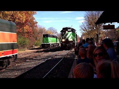 MTM Pumpkin Train: Scenes & SD9 Locomotive Cab Ride!