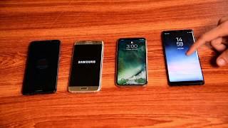 Samsung Galaxy Note 8 - Iphone X - Galaxy S7 Edge- Huawei Mate 10 startup test