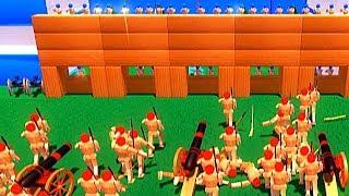 【小熙解说】木偶人战争模拟器 一场攻防大战怎样用一个逗比狙击手取胜!Wooden Battles