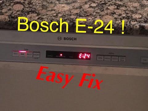 Bosch Dish Washer Error E-24 EASY FIX!!