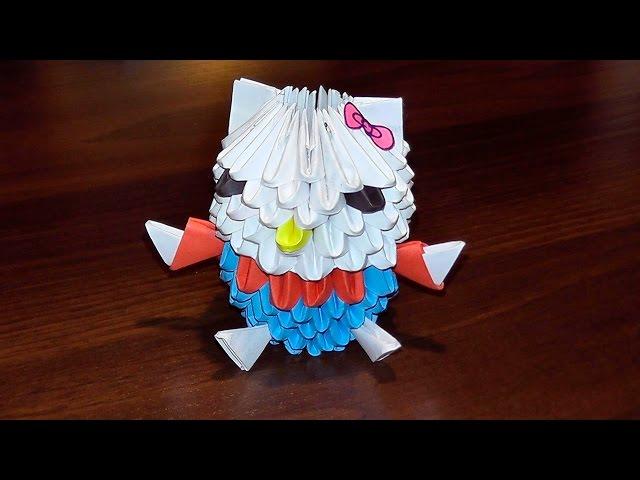 Модульное оригами хелло китти