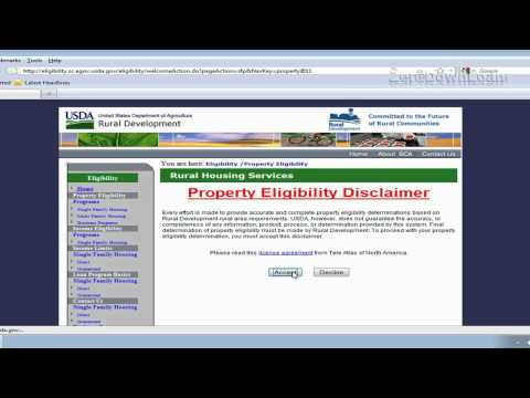 How To Use USDA Eligibility Map - Rural Housing Loan