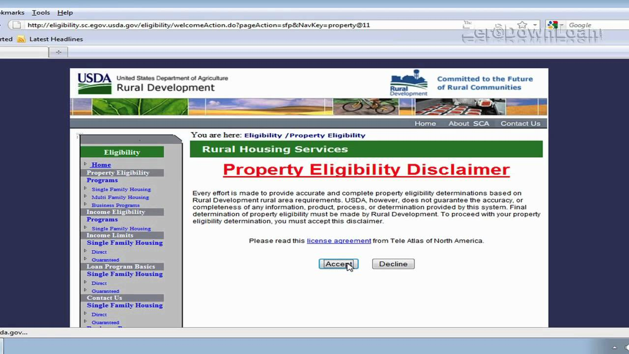 How To Use USDA Eligibility Map Rural Housing Loan YouTube - Usda rural eligibility map