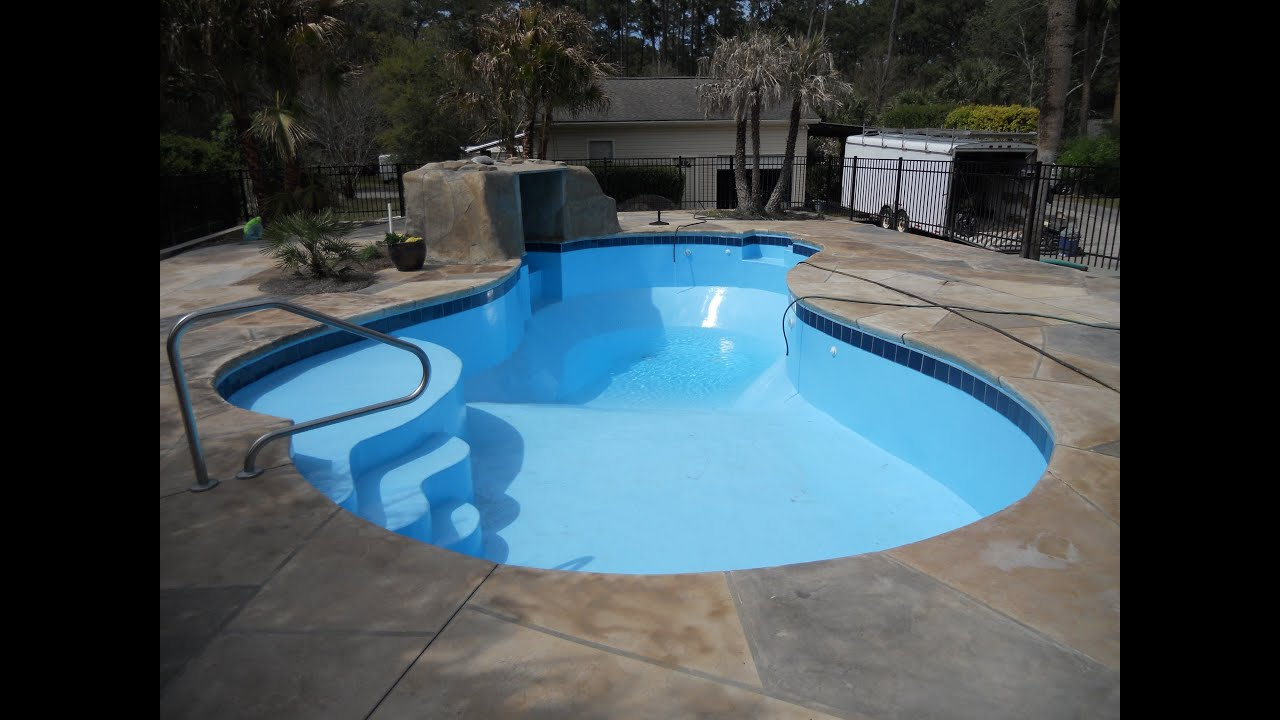 Affordable pools inc fiberglass epoxy pool coating youtube for Epoxy coating for swimming pools