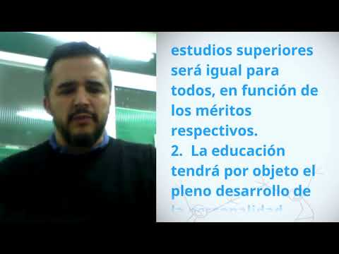 Miguel Melián, Argentina, reading article 26 of the Universal Declaration of Human Rights