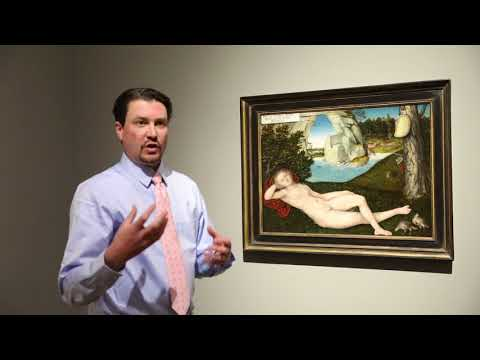 """ArtStop: Permanent Collections """"Nymph of the Spring"""" by Lucas Cranach the Younger"""