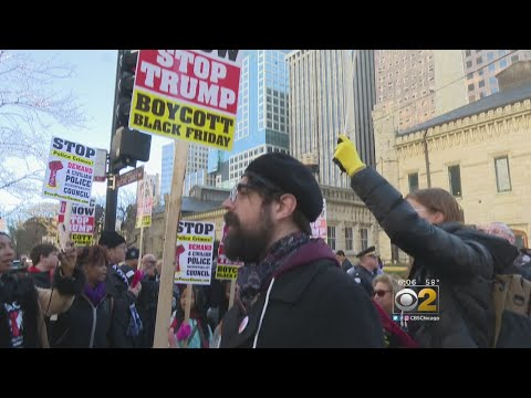 Smaller 'Black Friday' Protest On Chicago's Mag Mile