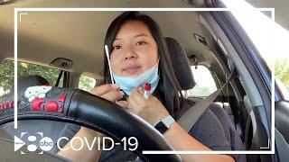 Watch WFAA's Tiffany Liou take a self-swab coronavirus test
