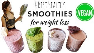 4 Healthy Vegan Smoothies For WEIGHT LOSSS, DETOX & PROTEIN 🌱 4大最好喝的健康排毒減肥奶昔(純素)