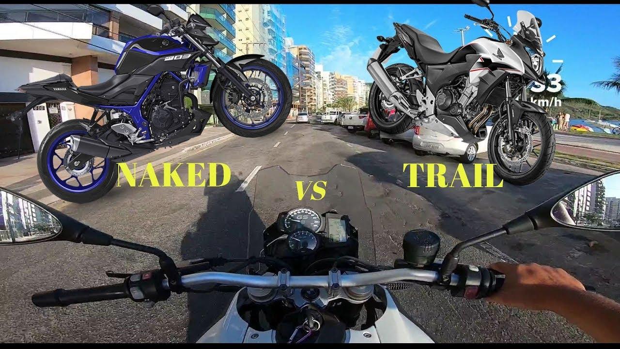 MOTOS NAKED OU TRAIL - QUAL É A MELHOR? - YouTube