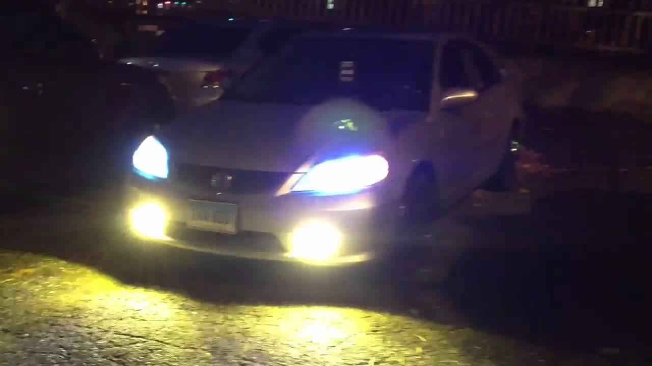 Honda Civic 2003 Hid Headlights And Fog Light Hid Youtube