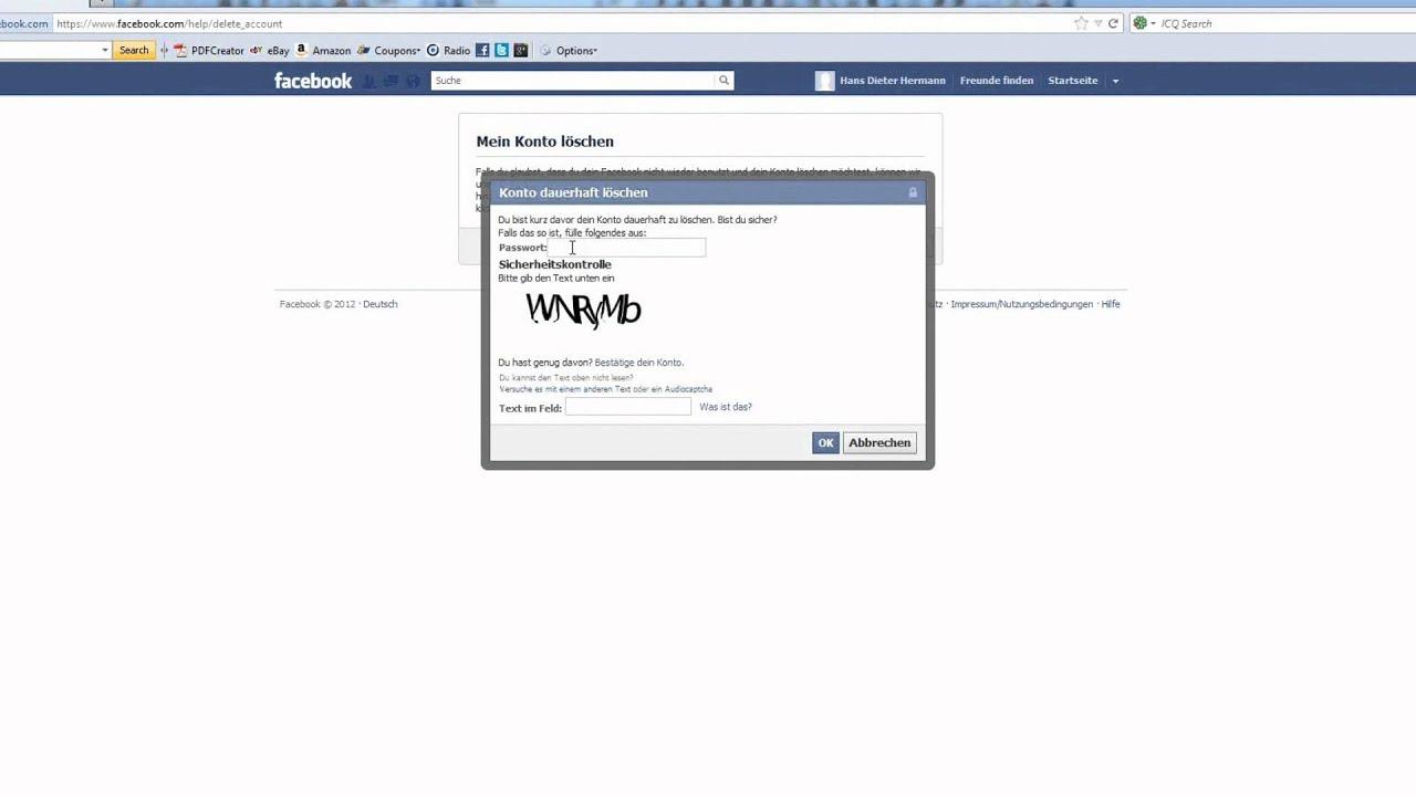 How2: Wie kann ich meinen Facebook-Account endgültig
