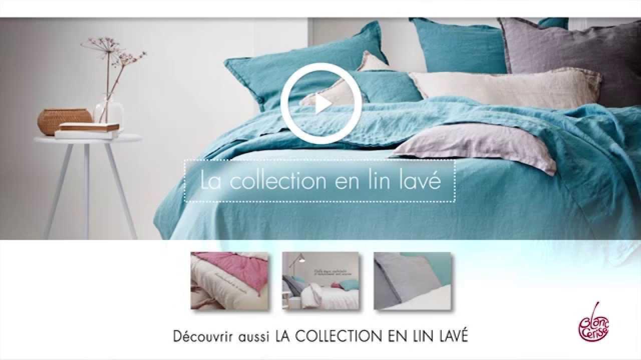 44f03adad42c1a Linge de lit Blanc Cerise   Percale de coton - YouTube