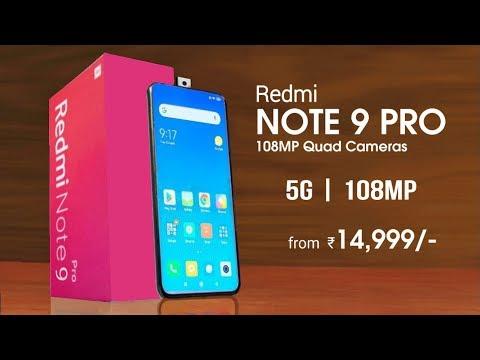 Redmi Note 9 Pro - 5G, 108MP Camera, Indisplay Fingerprint | Redmi Note 9 Pro