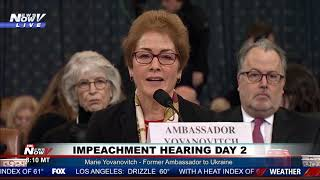 BAD NEWS MARIE: Marie Yovanovich Reacts To President Trump Statement of Her