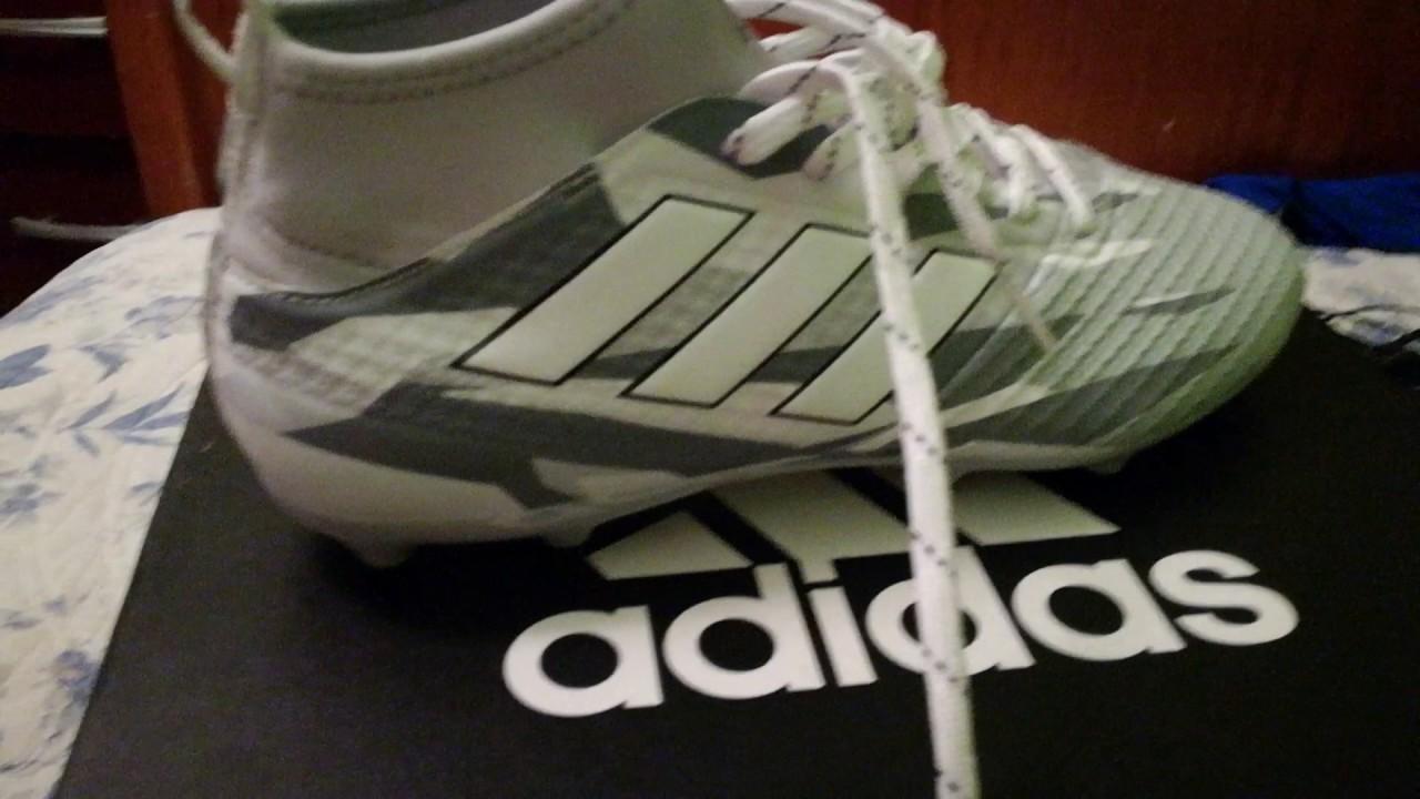 Review adidas ace 17.3 blanco plomo - YouTube 08a5ec79308ef