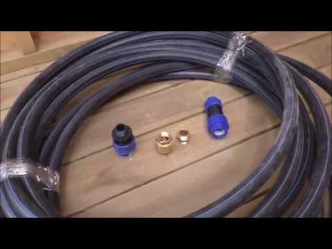 Труба для подключения глубинного насоса, обратный клапан, ниппель, соединители