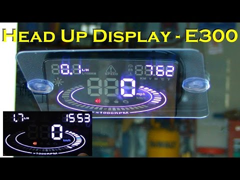 "Car Head-Up Display 5.5"" OBD HUD - Model E300"