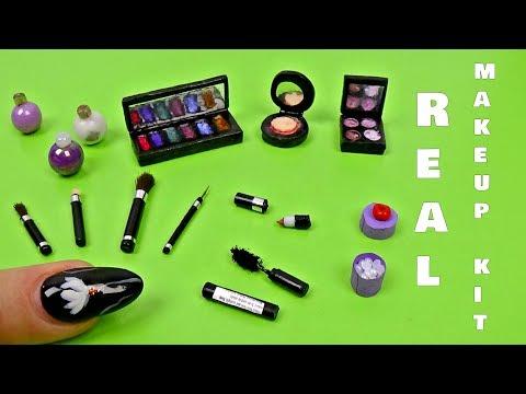 Miniature makeup kit really works diy  │Diy miniature makeup kit │ Diy real miniature makeup kit