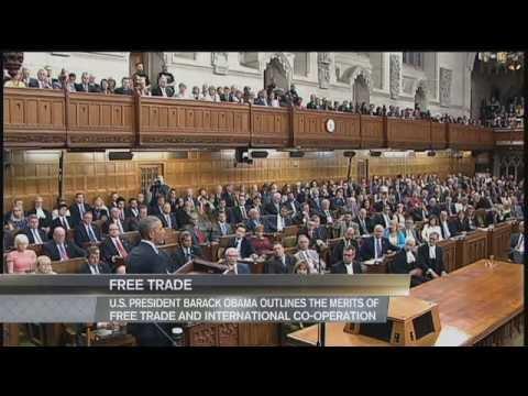 Sommet des leaders nord-américains 2016 - Le président américain Barack Obama s'adresse au Parlement #1