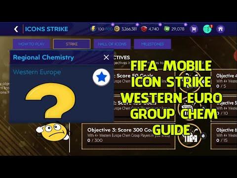 HƯỚNG DẪN SỰ KIỆN ICON STRIKE  WESTERN EUROPE CHEM GROUP ICON FIFA MOBILE 21